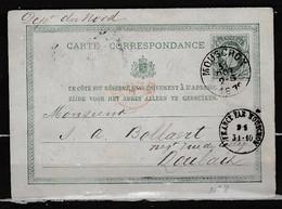Postkaart Van Mouscron Naar Roubaix - 1869-1883 Léopold II