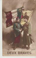 C. P. A.. - DEUX BRAVES - GLORIA - 86 - A. BOULANGER - HONNEUR - PATRIE - SOLDATS - Guerra 1914-18