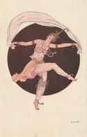 CPA Aquarellée Femme Lady Glamour Women Girl Danseuse Danse Ballet Art Nouveau  Illustrateur D. GOBBI (2 Scans) - Autres Illustrateurs