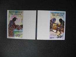 Timbre ND  Coin Daté Non Dentelé Neuf ** MNH - Imperf   Niger  N° 392 - 393 Equipes Villageoises  De Santé - Geneeskunde