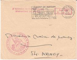 6è Régiment De Parachutistes De Marine ,lettre De Mont De Marsan , Landes ,1958 - Marcophilie (Lettres)