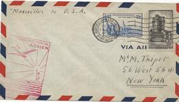 LETTRE 1939 POUR LES USA  AVEC 2 TIMBRES - 1921-1960: Moderne