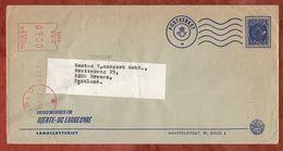 Vordruckbrief Landslotteriet, Absenderfreistempel, Oslo Nach Bremen 1972 (82962) - Norwegen
