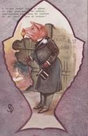 CPA Grivoise Animal Humanisé Position Humaine Cochon Porc Pig Ballet Faust Poisson D' Avril Illustrateur (2 Scans) - Varkens