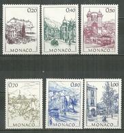 MONACO MNH ** 1762-1767 Monaco D'autrefois Le Rocher Port De Fontvieille Place Du Casino Palais Princier Rampe Major - Unused Stamps