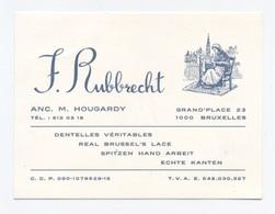 CDV -- BELGE DENTELLES BRUXELLES F RUBBRECHT     -X2 - Visiting Cards