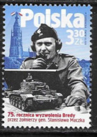 POLAND, 2019, MNH,WWII, LIBERATION OF BREDA BY THE SOLDIERS OF GENERL MACZEK,TANKS,1v - Seconda Guerra Mondiale