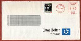 Vordruckbrief Ottar Holter, Julmarke, Absenderfreistempel, Sarpsborg 1980 (82964) - Norwegen