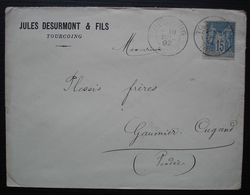 Tourcoing 1892 Jules Desurmont & Fils Pour Gaumier Cugand (Vendée) - 1877-1920: Semi Modern Period