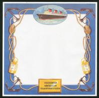 PAQUEBOT S/S NORMANDIE - FEUILLE DE PAPIER A LETTRE (EDITION COMMERCIALE 2) - Boats