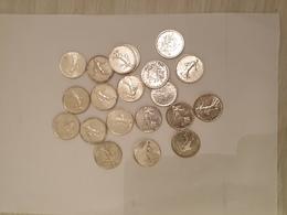 A VENDRE LOT DE 19 PIECES DE 5 FRANCS  EN ARGENT SEMEUSE DE 1960 - J. 5 Francs