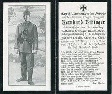Pas De Calais.1918. ST. LEGER, ST. LAURENT-BLANGY. Sterbebild Avis Décès Soldat Allemand - 1914-18