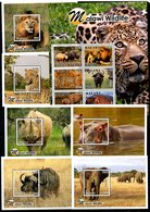MALAWI, 2019, WILD  ANIMALS,6 M/S+S/S, MNH** NEW!! - Francobolli