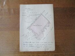 """ORIGNY STE BENOITE LE 25 JANVIER 1913 ALBERT GENTE PLAN NEUVILETTE LIEUDIT """"LES GUEULES"""" CONTENANCE 5Ha 46a 41ca - Manuscritos"""