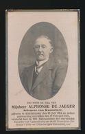 SCHEPEN KNESSELARE - ALPHONSE DE JAEGER   - KNESSELARE 1854 - 1921 - Décès