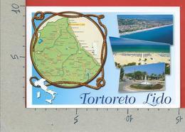 CARTOLINA VG ITALIA - TORTORETO LIDO (TE) - Vedutine Multivue - Cartina - 10 X 15 - 2011 LETTERINA CHE VOLA - Teramo