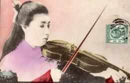 HONG-KONG-Jeune Fille Au Violon. - China (Hongkong)