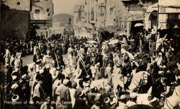 EGIPTO // EGYPTE. PROCESSION OF THE MAHMAL (HOLY CARPET). - REAL PHOTO - Egipto