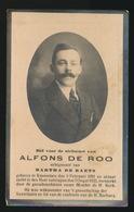 ALFONS DE ROO     - KNESSELARE 1891  - 1933 - Décès