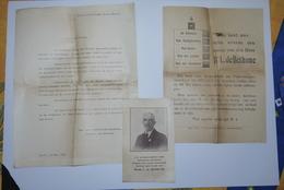 Aalst 1929 Zeldzame Verkiezings Propaganda Baron De Bethune 3 Stuks Met Foto - Historische Dokumente