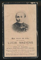 LUCIA MAEYENS     - KNESSELARE 1836  - 1910 - Décès