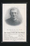 PASTOOR ZANDVLIET  - JAN VAN DE KEYBUS - ACHTERBROEK KALMTHPUT 1875 - ANTWERPEN 1940 - Décès