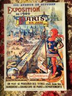 CPM PUB PUBLICITE ANCIENNES EXPOSITION PARIS 1400 COUR MIRACLES COLLEC AUTHENTIQUES IMAGINAIRES 2009 - Pubblicitari