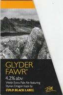 COLD BLACK LABEL BREWERY (BRIDGEND, WALES) - GLYDER FAWR PALE ALE - PUMP CLIP FRONT - Letreros