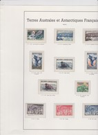 TAAF Années 1955 1956 1957 1958 Complètes 11 T Neufs Xx N°YT 1 à 11 - French Southern And Antarctic Territories (TAAF)