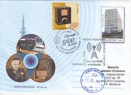 Moldova Moldavie  2019 Vintage Radio Devices Philips Telefunken Privat FDC - Moldova