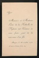 ADEL NOBLESSE - LEON De La KETHULLE De RYHOVE - ZOON BRUGGE 1921   YVES - Geburt & Taufe