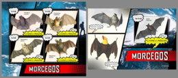 SAO TOME 2019 MNH Bats Fledernäuse Chauves-souris M/S+S/S - OFFICIAL ISSUE - DH1925 - Bats