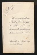 ADEL NOBLESSE -  PAUL KERVYN De MEERENDRE  GEBOORTE ZOON 1911  JUSTINNE - Geburt & Taufe