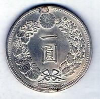 JAPAN, 1 Yen, Silver, Year 13 (1880), KM #25.1 (Résidus, Traces De Soudure - Residues, Solder Traces). - Japón