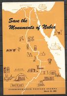 PAKISTAN 1964 BROCHURE WITH STAMPS SAVE THE MONUMENTS OF NUBIA - Pakistan