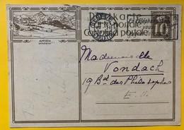 9613 - Entier Postal Illustration Amden Genève 23.02.1930 - Enteros Postales