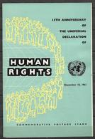PAKISTAN 1963 BROCHURE WITH STAMP HUMAN RIGHTS - Pakistan