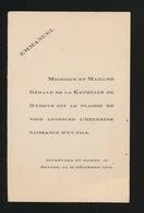 ADEL NOBLESSE -  GERALD De La KETHUULE De RYHOVE     GEBOORTE ZOON 1930 EMMANUEL - Geburt & Taufe