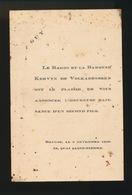 ADEL NOBLESSE -  BARON KERVYN De VOLKAERSBEKE      GEBOORTE ZOON 1930 GUY - Naissance & Baptême