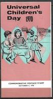 PAKISTAN 1970 BROCHURE WITH STAMPS UNIVERSAL CHILDRENS DAY - Pakistan