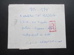 Afrika 1969 Ägypten UAR 2 Einschreiben Mit Rotem Gestempelten R Nach Dresden Und Berlin Luftpost - Covers & Documents
