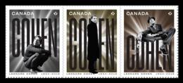 Canada 2019 Mih. 3762/64 Poet Leonard Cohen (self-adhesive) MNH ** - 1952-.... Règne D'Elizabeth II