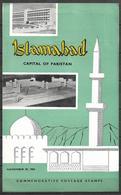PAKISTAN 1966 BROCHURE WITH STAMPS D NEW CAPITAL OF PAKISTAN - Pakistan