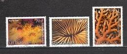 POLYNESIE  N°  906 à 908   NEUFS SANS CHARNIERE COTE 7.00€   CORAUX ANIMAUX - Polynésie Française