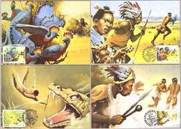 FOLKLORE - LEYENDA DE SIKULUME - Legend Of Sikulume. Set 4 TM/MC. Ciskei 1987 - Otros