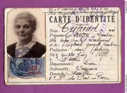 TIMBRE FISCAL DA 13 FRANCS - CARTE D IDENTITE VALIDEE EN AOUT 1941 - Fiscaux