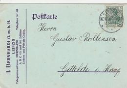 Allemagne Timbre Perforé Perfins Sur Carte Leipzig 1914 - Alemania