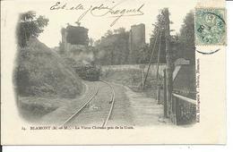 Blamont-Le Vieux Chateau Pris De La Gare - Blamont