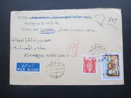 Asien Syrien Syrian Arab Republik 1969 2 Luftposdtbelege In Die DDR Einschreiben / Registered Letter Damaskus - Dresden - Syria