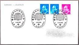 Matasellos ESPAMER'87 - DIA DE LAS FEDERACION FILATELICAS. La Coruña Galicia, 1987 - 1931-Hoy: 2ª República - ... Juan Carlos I